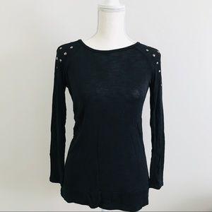 [Forever 21] Black Studded Top